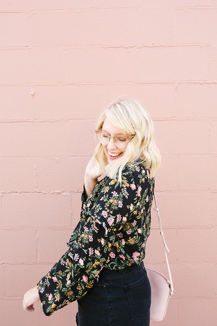 writes like a girl austin fashion blogger bell sleeves denim skirt12