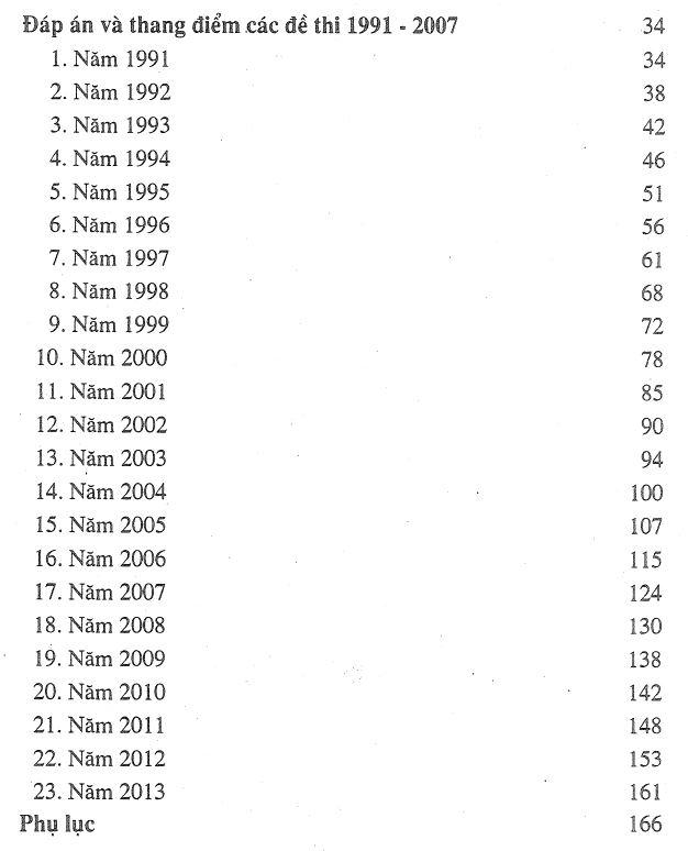 Mục lục sách đề thi - đáp án - thang điểm CƠ HỌC KẾT CẤU