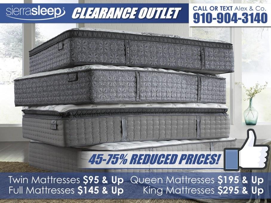 Sierra Sleep Clearance Outlet Mattress Stack