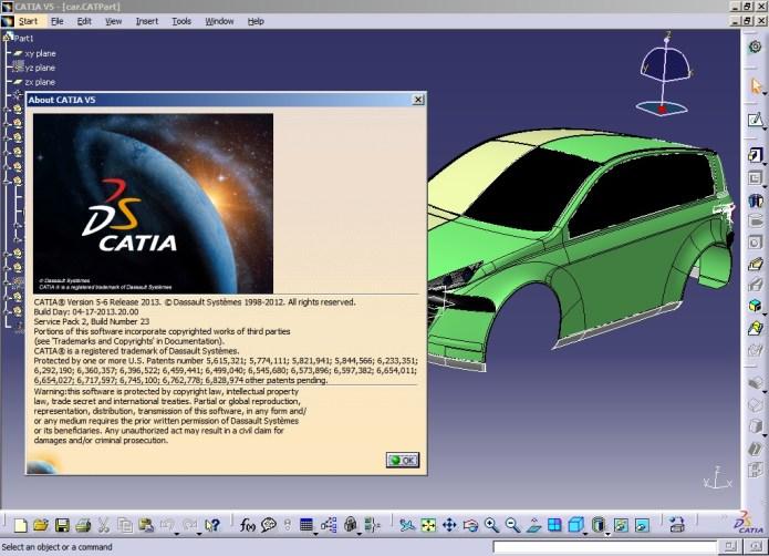 Làm việc với Phần mềm catia V5 - 6 R2013 SP2 full crack