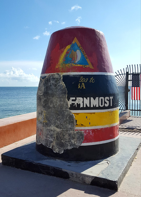 The Southernmost Buoy took some damage.