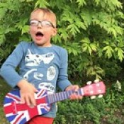 Jack singing Ed Sheeran's Castle on the Hill.