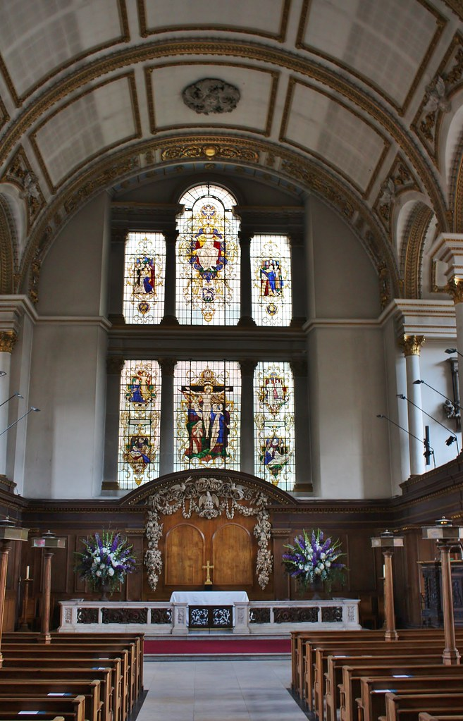 St. James's Piccadilly - Aug 2017 - Interior with Stained … | Flickr
