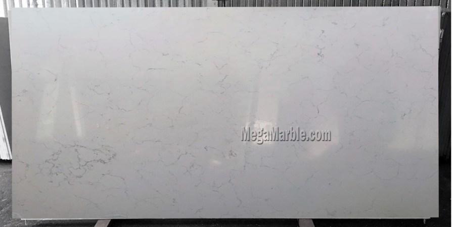 Quartz countertops that look like Carrara marble