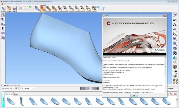 Thiết kế giầy với Phần mềm Delcam Crispin ShoeMaker 2016 R1 64bit full license