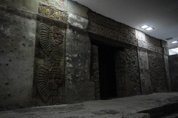 Underground temple at Palacio de Quetzalpapalotl