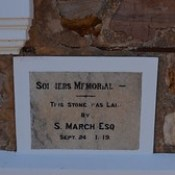 Foundation stone of the Soldiers' Memorial at Redhill Institute, South Australia.
