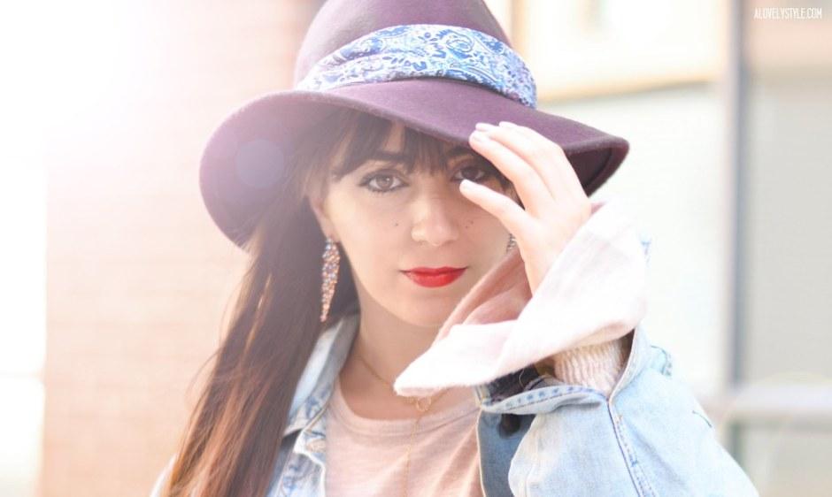 basic-pieces-blogger-london-outfit-look-ootd-hat-denim-jacket-bandana-chic-style-streetstyle-lovelystyleblog