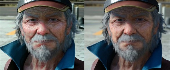 Final Fantasy XV - PC vs PS4 - Subsurface Scattering