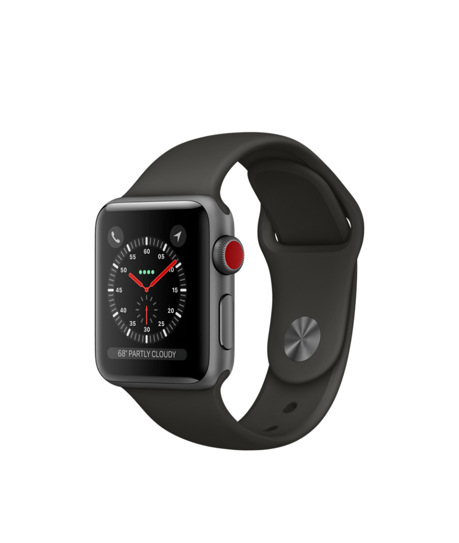 20170914 Apple Watche Series 3 38 alu space sport gray