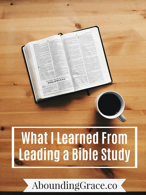 What I learned from leading a Bible study