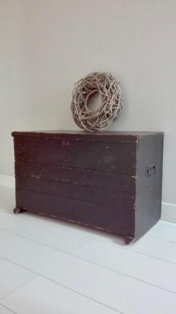 Oude kist slaapkamer krans