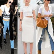 3 Tips for Styling a White T-shirt from Hollywood's Celebs.