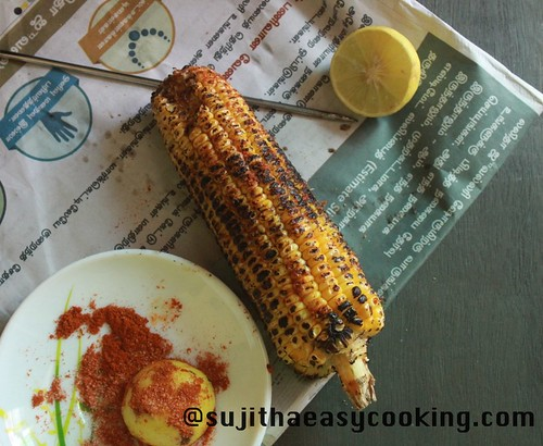 Sweetcorn with Lemon and chilli