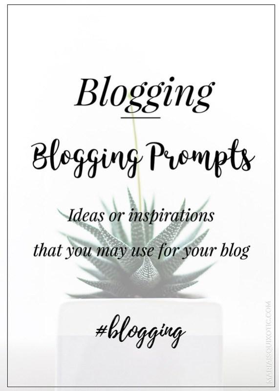 Blogging Prompts