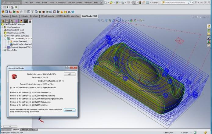 Lập trình gia công với phần mềm CAMWorks 2014 SP2.1 for SolidWorks full
