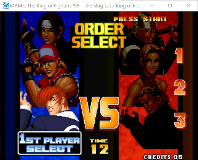 2017-08-17 21_27_20-MAME_ The King of Fighters '98 - The Slugfest _ King of Fighters '98 - dream mat