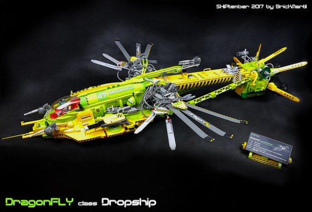 SHiPtember 2017 - DragonFLY class Dropship - Final. Finished at day 29