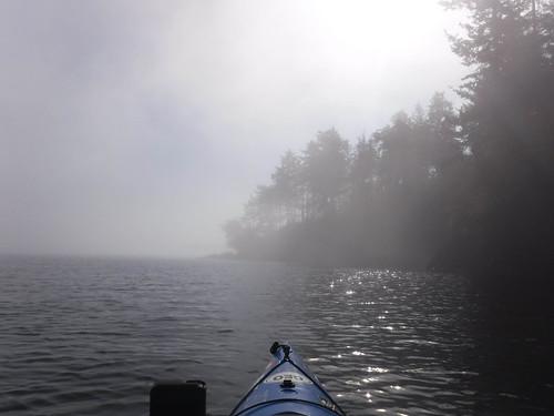 Samish Island Paddling in Fog-37