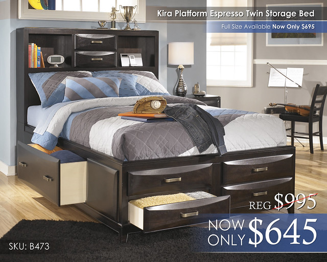 Kira Platform Storage Bed B473-77-74-88-STORAGE