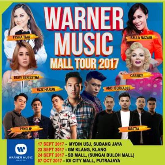 WARNER MUSIC MALL TOUR 2017