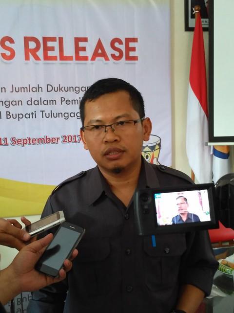 Ketua KPU Tulungagung, Suprihno S.Pd, M.Pd (12/9)