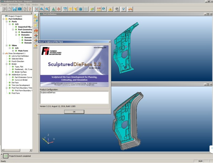 Working with FTI Sculptured Die Face 3.2 32bit 64bit full license