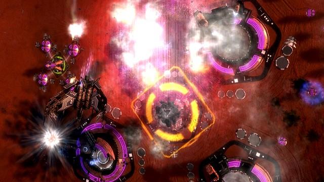 Cybran T3 Strategický bombardér napadá osvětlenou základnu
