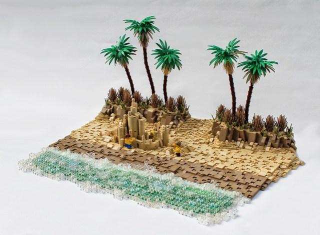 LEGO plage Concours de châteaux de sable