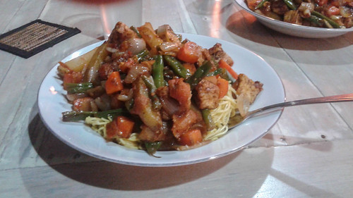 Vegetables, noodles, tofu, etc.