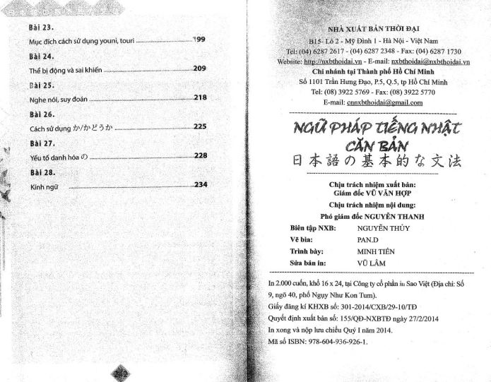 Nội dung ngữ pháp tiếng nhật của trung tâm nhật ngữ sakura