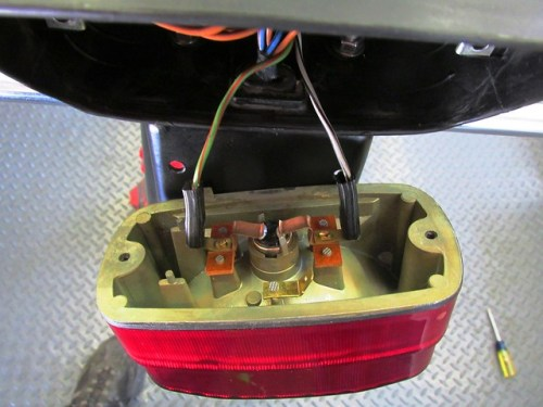 Brake Light Housing Wiring-Left is Stop Light (#58) Right is Tail Light (#54)