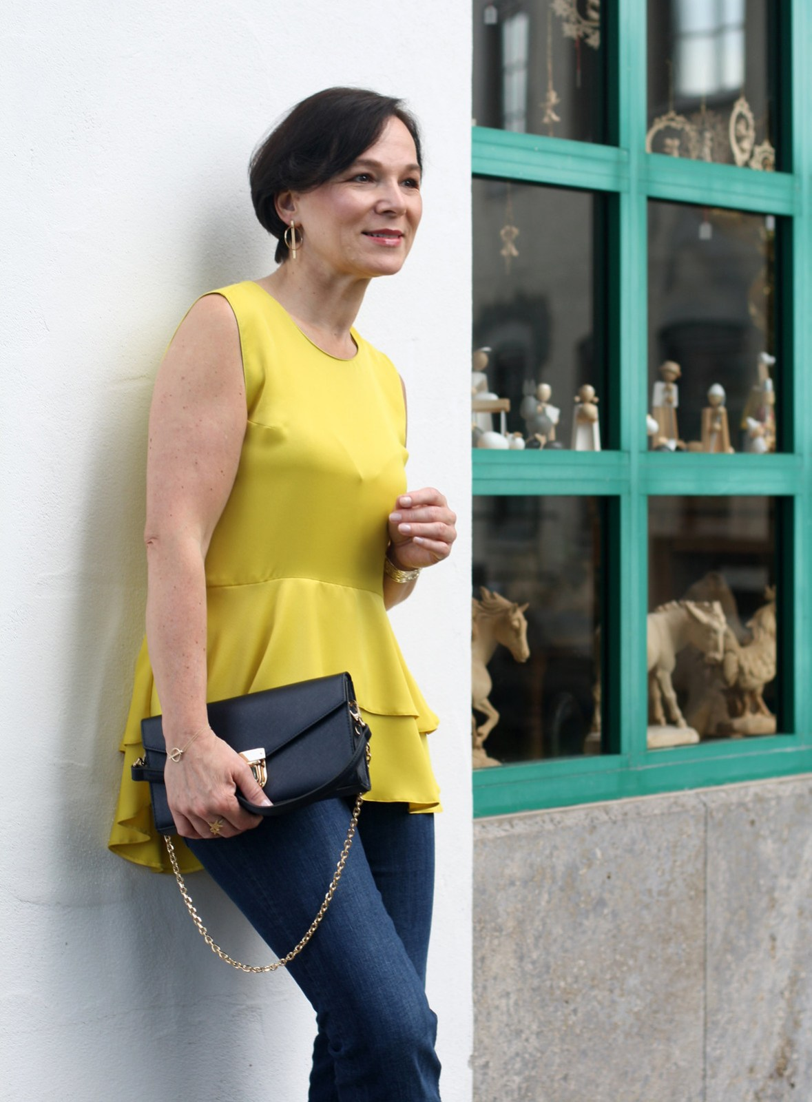 Yellow Summer Top Jeans LadyofStyle 8