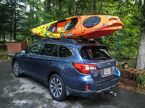Rambulus IV with Kayaks