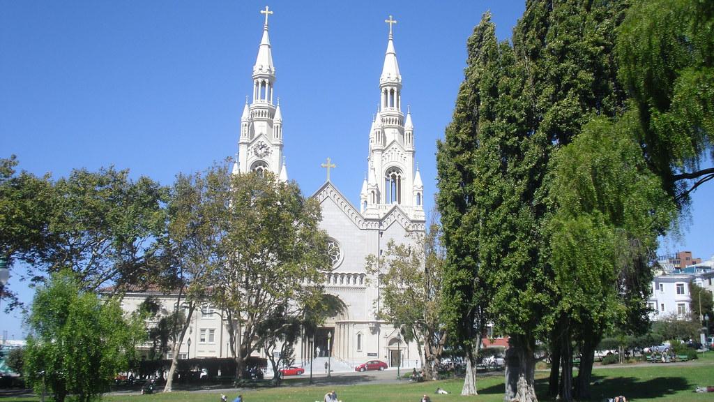 exterior Iglesia de San Pedro y San Pablo San Francisco California EEUU 02