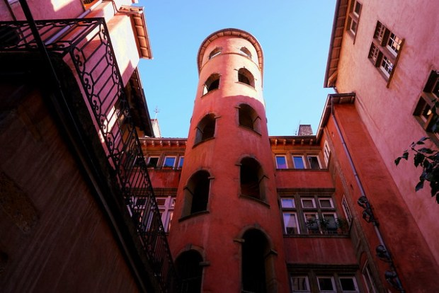 The Tour Rose and its courtyard in Vieux Lyon