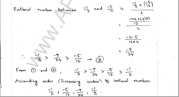 ML Aggarwal ICSE Solutions for Class 9 Maths Ch 1 Rational