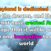 Disneyland is dedicated to the idealas the dreams english thought quotes.