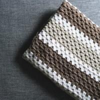 crochet | granny stripe afghan