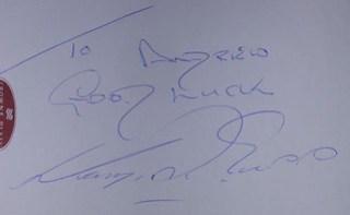 Harry Redknapp Autograph