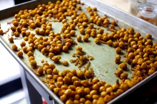 crisp the chickpeas