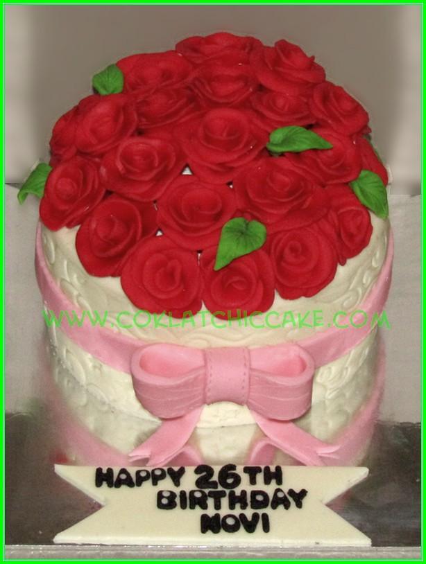 Cake Bunga Mawar Novi Jual Kue Ulang Tahun