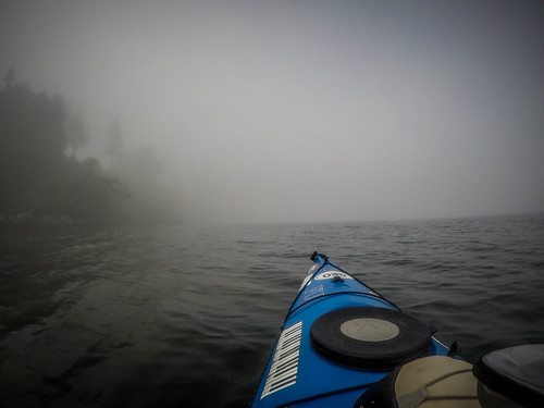 Samish Island Paddling in Fog-7