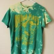 Splatter Bleached and Shredded Bruno Mars T Shirt Medium.