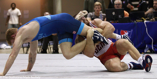 Finals FS 97 KG Ty Walz (VT/Southeast RTC) over Daniel Chaid (Tar Heal Wrestling Club) dec. 8-1 - 171008mk0144