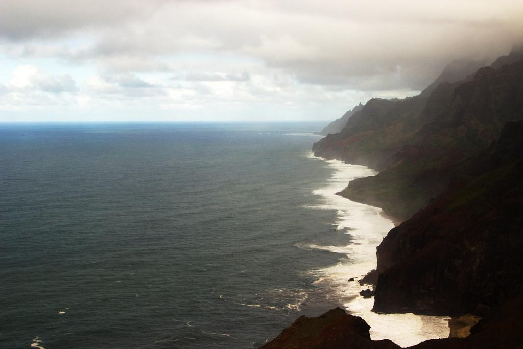 A very wet Na Pali Coastline