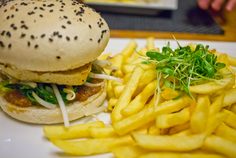 vegan meal and burger in Basel