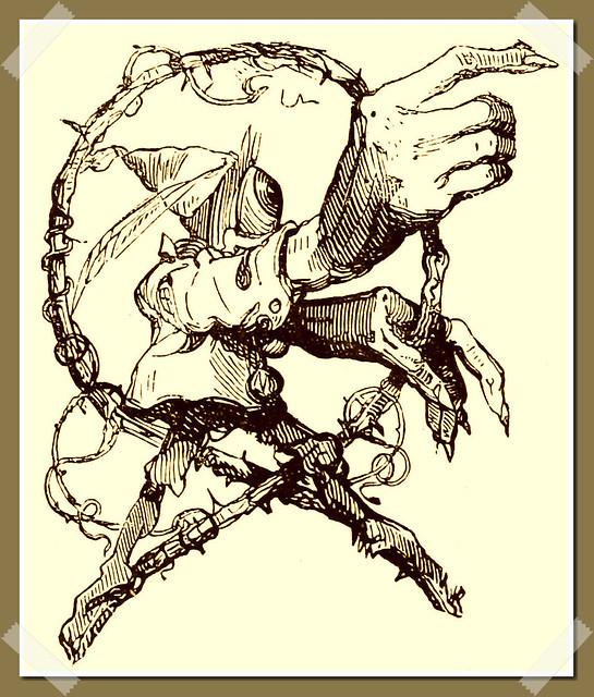 Une des images de Belzébuth telle que représentée dans le Dictionnaire Infernal de Collin de Plancy, édition 1863.