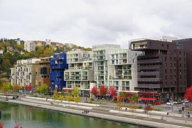 La Confluence neighborhood new residential buildings