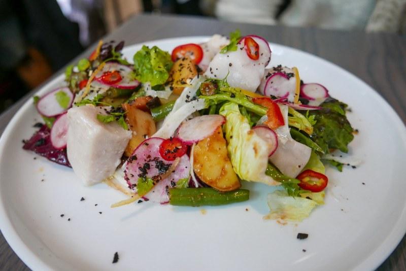 Autumn Nicoise, Confit Swordfish, Potatoes, Marinated Beans ($18)